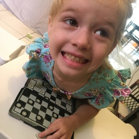 I totally lost at Kaybrietta's version of checkers!