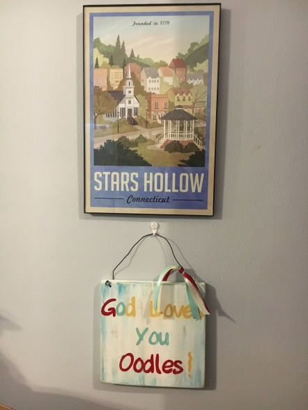 Stars Hollow & a sign the Tillery's made for us!