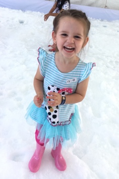 Lissie Joy had the best time throwing snowballs!